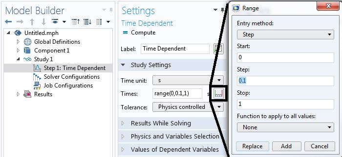 控制瞬态求解器的时间步长插图